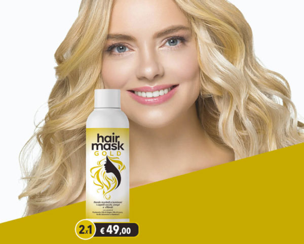 hair mask gold 2x1